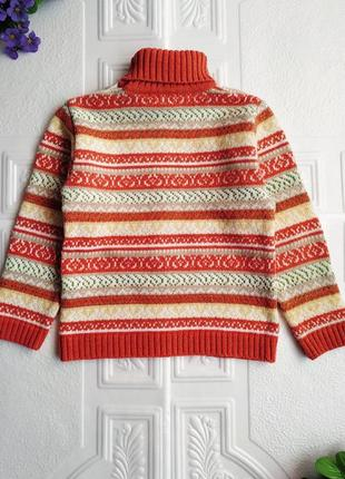 """Шерстяной жаккардовый свитер """"дайс""""5"""