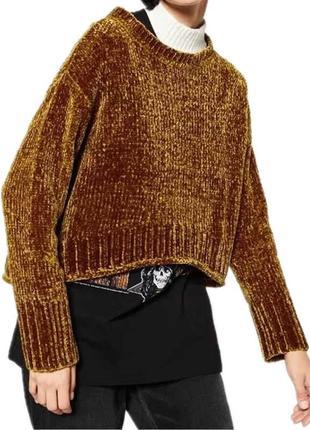Трендовый свитер из синели от zara3 фото