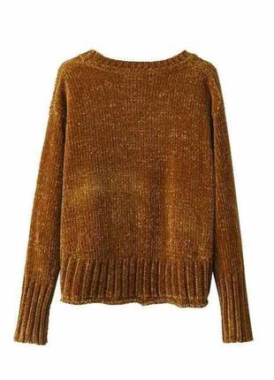 Трендовый свитер из синели от zara9 фото