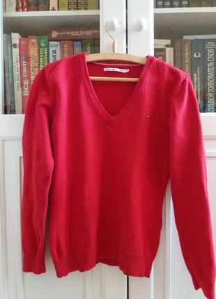 Стильный джемпер пуловер  timmy hilfiger  оригинал хлопок размер m