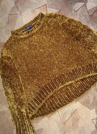 Трендовый свитер из синели от zara5 фото