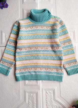 """Шерстяной жаккардовый свитер """"дайс"""""""