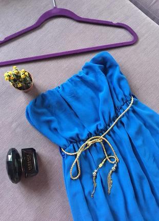 Шикарное нарядное платье, сарафан  без бретель ( вискоза ) made in italy