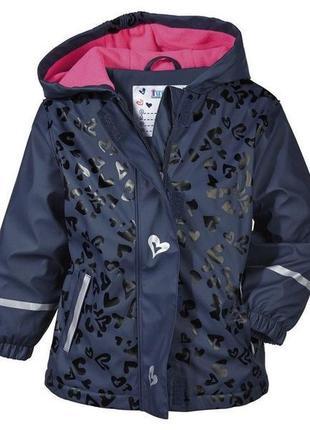 Куртка дождевик на флисе lupilu германия 86-92
