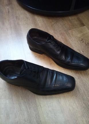 Мужские кожаные туфли vero cuoio 42 размера