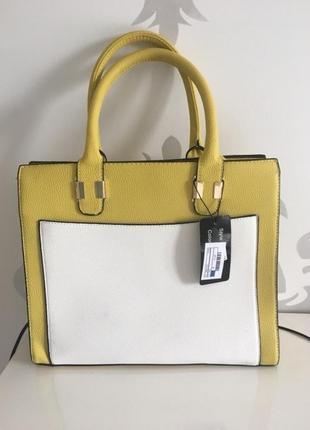 Новая сумка с этикеткой греция белая желтая сумочка