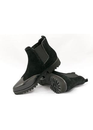 Стильные ботинки- челси geox respira из натуральной кожи замши р. 36; 39,5; 37,5; 38; 38,5