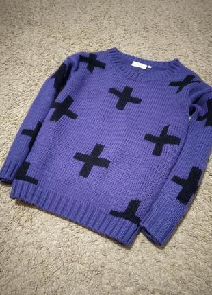 Вязаный свитер clockhous
