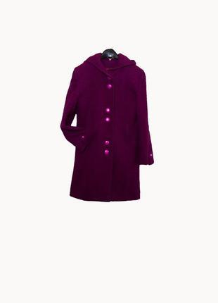 Эксклюзивное демисезонное пальто из шерсти