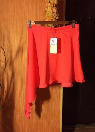 Невесомая соблазинительная красная юбка bershka - шикарный выбор на весну-лето!