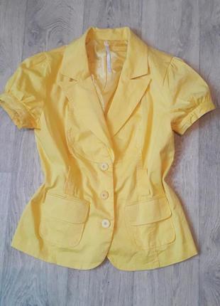 Весняний піджак з коротким рукавом кольору сонця☀️