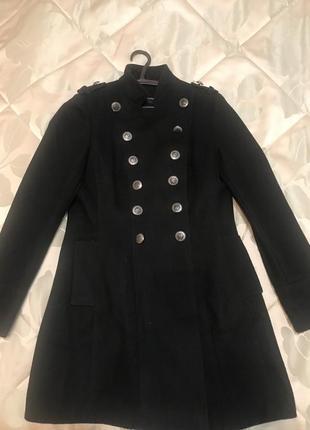 Пальто шерстяное , бушлат в стиле милитари zara