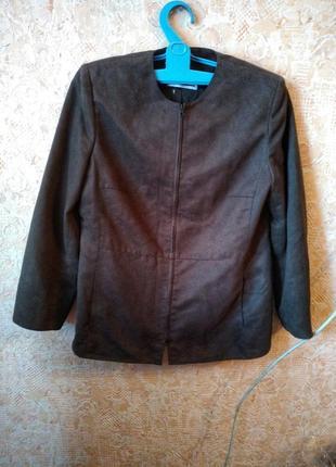 Крутая куртка из эко замши шоколадного цвета!
