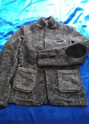 Шикарный стильный тёплый пиджак / l