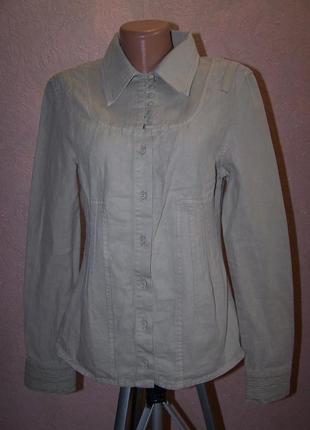 Плотная джинсовая дизайнерская рубашка braez италия пог-43см