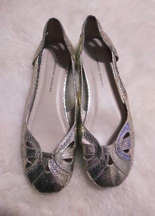 Золотисті туфлі ,балетки dorothy perkins