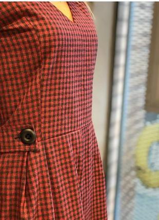 Платье миди с декоративным поясом 48 размер