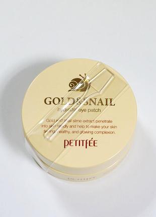 Гидрогелевые патчи для глаз petitfee&koelf gold & snail hydrogel eye patch, распродажа!