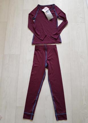 Спортивный костюм  термо комплект лосины кофта рашгард crane 146/152