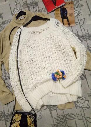 Шикарный ажурный свитерок!размер m-l
