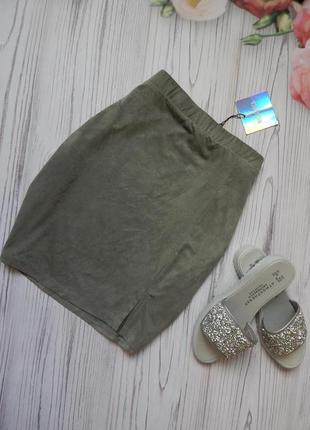 Нереально стильная, сексуальная, юбка под мягкую замшу от missguided. размер l-xl
