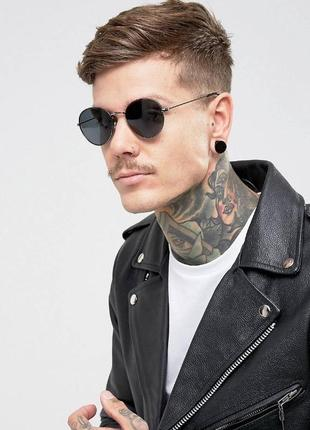 Солнцезащитные очки round с тёмными линзами