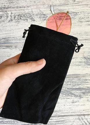 Чехол для очков мешочек чёрный1 фото