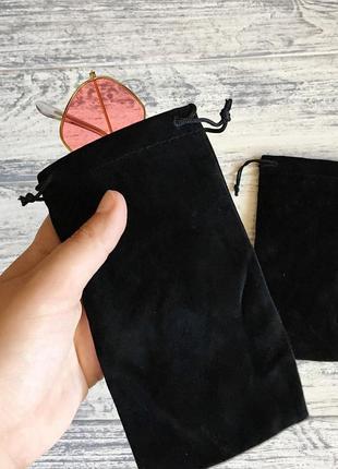 Чехол для очков мешочек чёрный3 фото