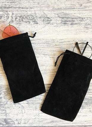 Чехол для очков мешочек чёрный4 фото