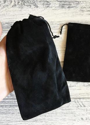 Чехол для очков мешочек чёрный2 фото
