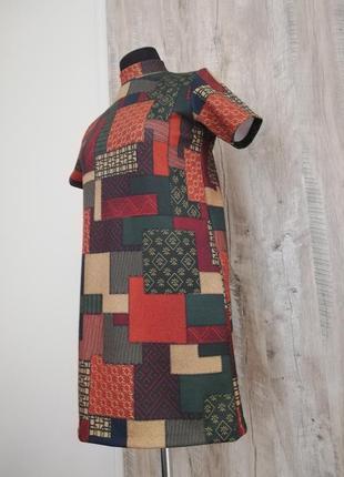 Красивое платье zara в стиле пэчворк
