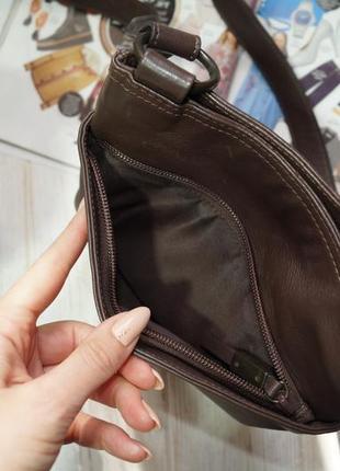 Debenhams. кожа. фирменная сумка через плечо, кросс-боди на 2 отделения4 фото