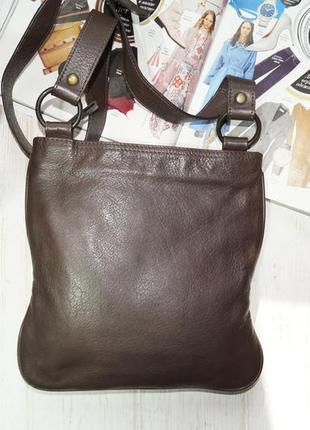 Debenhams. кожа. фирменная сумка через плечо, кросс-боди на 2 отделения6 фото