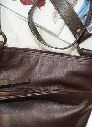 Debenhams. кожа. фирменная сумка через плечо, кросс-боди на 2 отделения8 фото