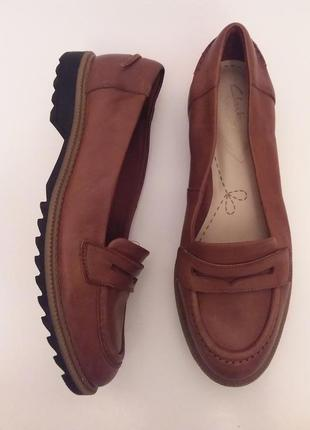 Clarks! оригинал! шикарные брендовые кожаные лоферы