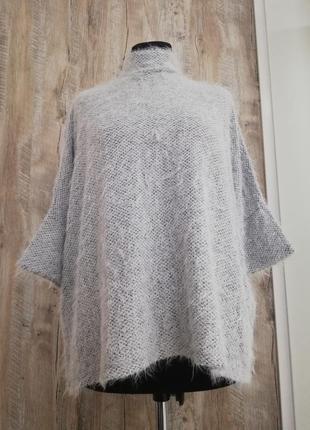 Серый свитер травка покроя oversize
