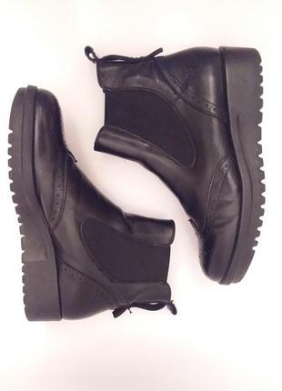 Marc o polo! оригинал! стильные раскошные кожаные удобные ботинки челси