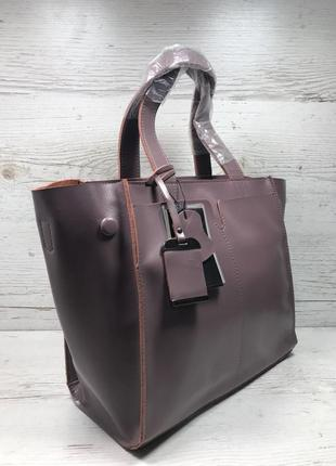 Женская кожаная сумка черная серая розовая жіноча шкіряна сумка чорна10 фото