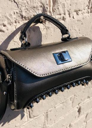 Элегантная мини сумка кроссбоди клатч «венецианское зеркало»