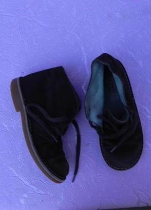 Ботинки демисезонные замшевые 30 размер 19см стелька