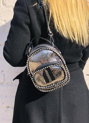 Элегантная мини сумка-кроссбоди  рюкзак  сумка «римские каникулы»(бесплатная доставка))