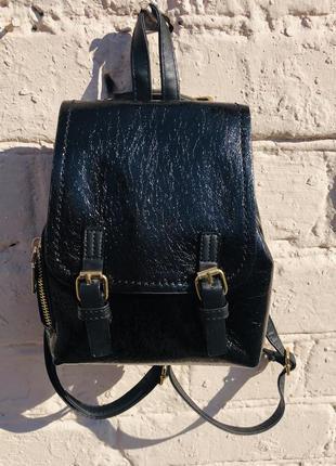 """Элегантный рюкзак  мини  """"черный металлик"""" (2 цвета)"""