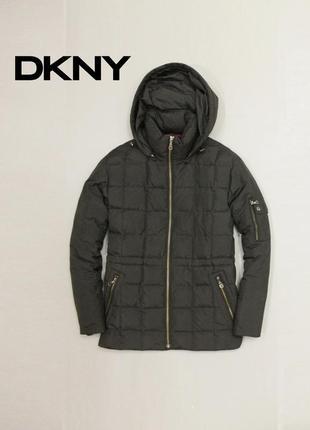 Куртка зимняя пуховик на пуху dkny