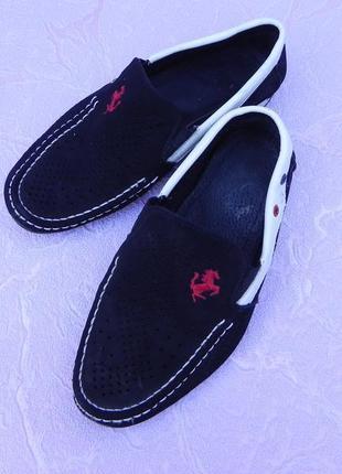 Мокасины туфли летние 32 размер 20,5см стелька
