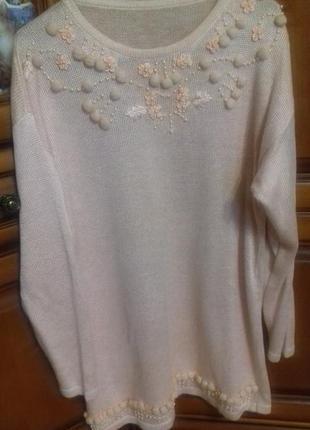 Нежно розовое (персиковое) платье или туника