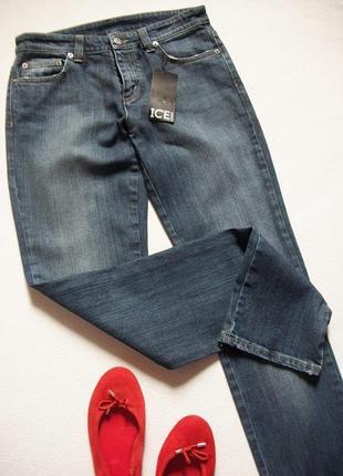 Прямі котонові джинси