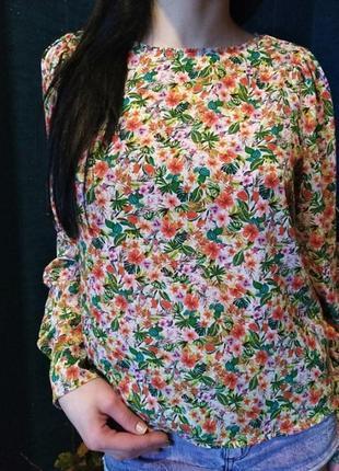Блузка цветочный принт h&m