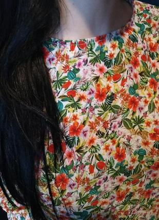 Блузка цветочный принт h&m2