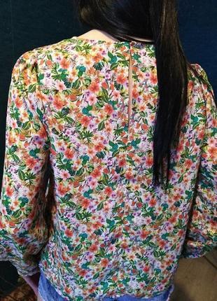 Блузка цветочный принт h&m3