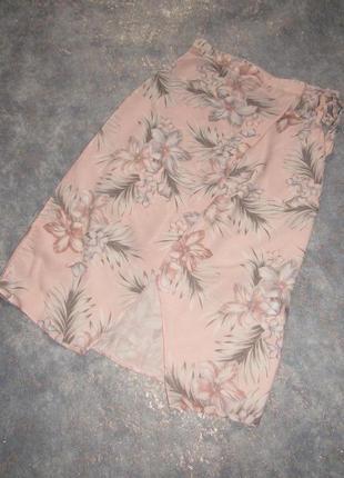 Нежная пудровая юбка миди с запахом от new look р.6 xs. лучшая цена!